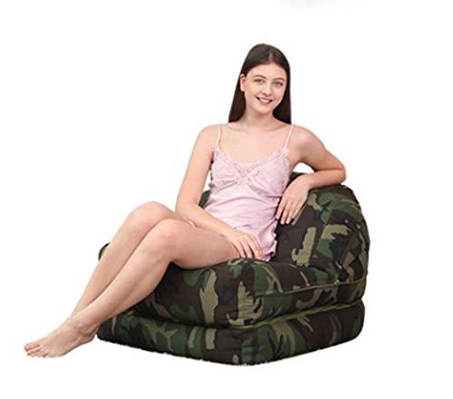 length Camuflaje Lazy Sofá Tatami Banda multifunción Dormitorio Sala de Estar Siesta de Oficina Cómoda Reclinable Individual Grande Mediana (Color : Dark Camouflage, Size : L)