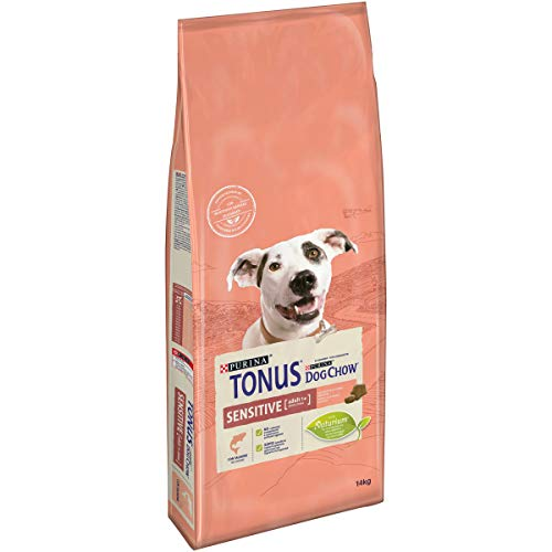 Purina Tonus Dog Chow Sensitive Cane Crocchette con Salmone, 14 kg