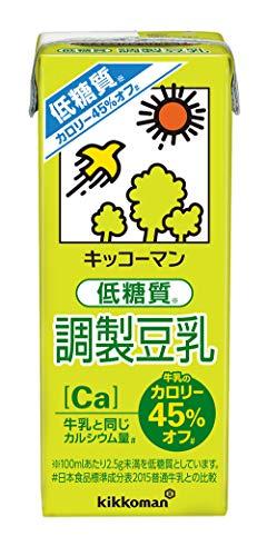 キッコーマン 低糖質調整豆乳 200ml×18本