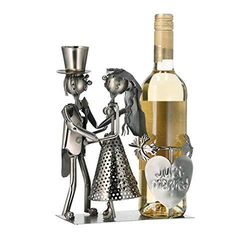 CE Flaschenhalter,Flaschenkorb,Weinflaschenhalter Brautpaar, 28cm,just Married