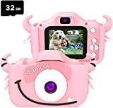 Digital Kids Camera Video Gifts for Girls Boys, 32GB Memory Card Include,12MP...