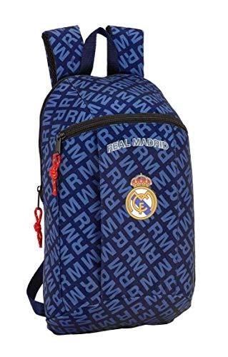 Safta- Mini Mochila Real Madrid Navy Blue 22x39x10, (641902821)
