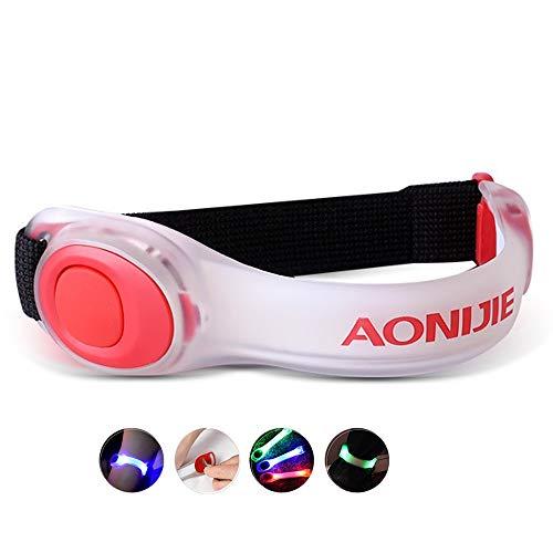 Lixada Pulsera Reflectante con Brazalete de Luz LED de Seguridad de Funcionamiento Nocturno Colorido, Utilizada para Pulsera de Jogger/Ciclista/Escalador/Camper, Collar de Perro, etc.