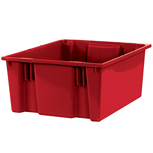 Buy Discount Stack & Nest Containers, 20 7/8 x 18 1/4 x 9 7/8, Red, 3/Case