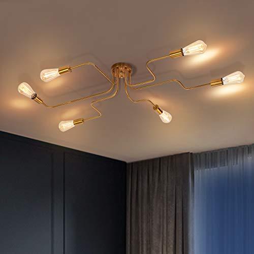 OYIPRO Moderno Lampadari Plafoniere lampada 8 E27 per soggiorno camera da letto (Senza lampadina)