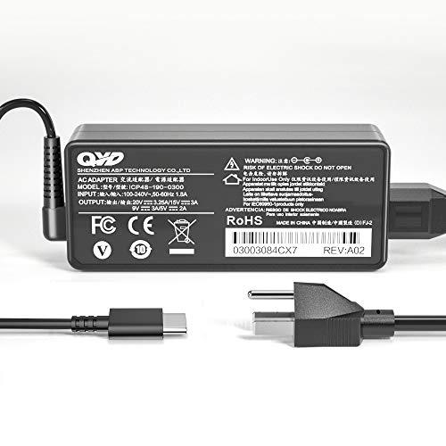 QYD 65W USB TYPE-C ACアダプターPD 充電器 急速充電 電源対応 ノートパソコン Lenovo Yoga 730 920 C930-13 720-13IKB ThinkPad X1 Tablet L580 P52s E485 E580 E585 L480 T470 T480 T580 X270 X280 PCレノボ acアダプタータイプc