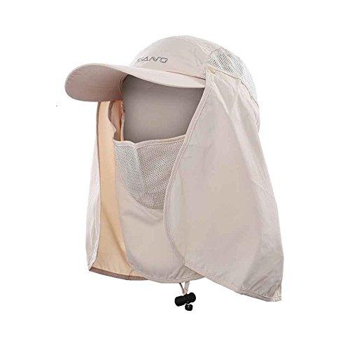 TSHOME Outdoor 360 ° UV-bescherming zonnehoed cap met nekbescherming & Face flap cover opvouwbare anti-mugy