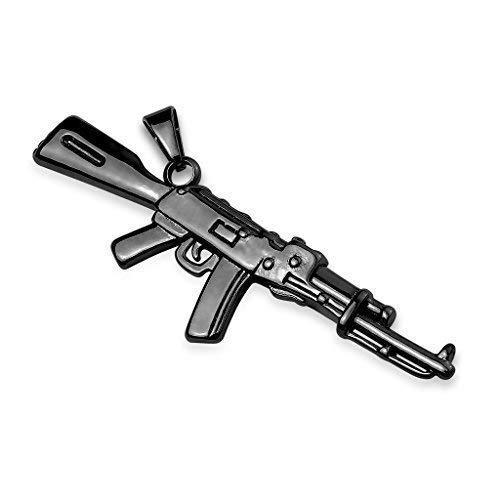 Tapsi´s Coolbodyart®|Statement Kettenanhänger Edelstahl Gewehr Waffe Schwarz