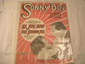 SONNY BOY AL JOLSON 1927 SHEET MUSIC SHEET MUSIC 210