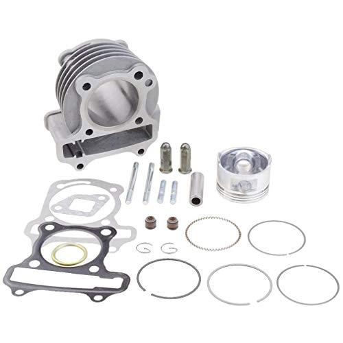 WOOSTAR 47mm Big Bore Komplette Zylinder Baugruppe Ersatz für GY6 4 Takt Taotao 49ccm 50ccm ATV Roller 139QMA 139QMB Motor