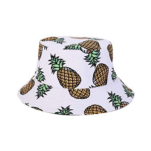 Sombrero De Copa Sombreros para El Sol Algodón Mujeres Bucket Hat Visor Basin Cap Hombres Double Side Fruit...