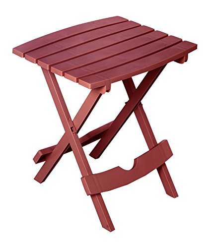 Adams Manufacturing 8500-95-3700 Plastic Quik-Fold Side Table, Merlot
