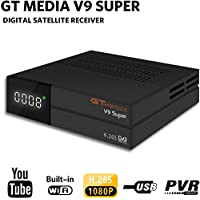 GT MEDIA V9 Super DVB S2 Satelite Ricevitore Decodificador Oficial Freesat Digital TV Sat Receptor Soporte H.265 1080P Full HD CCcam Newcam IPTV Youtube PVR PowerVu Biss chiave, con WiFi Incorporado