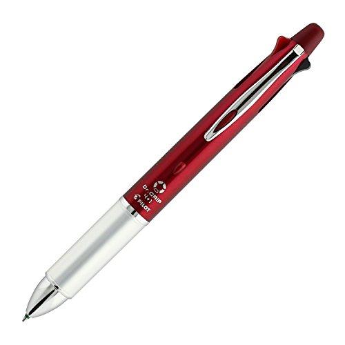 Pilot Dr. Grip 4+1, 4 Color 0.7 mm Ballpoint Multi Pen and 0.5 mm Pencil - Bordeaux Body