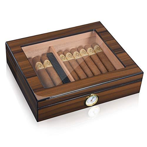 Cigarol Zigarren Humidor mit Hygrometer für ca. 30 Zigarren