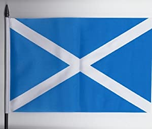Scotland Andrews Saltire Medium Hand Held Flag 23cm 15cm