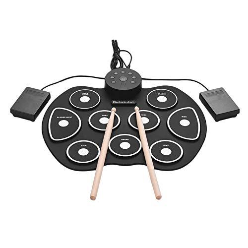 QinWenYan Tambores Electronicos Conjunto de Tambor de...