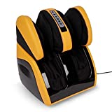 VITALZEN Plus® Massager for feet, Calves,Legs,Knees and Thighs – Yellow (2020 Mod.) - Compression-Air Massage-Rollers-Thermal-Heating-Kneading-Foot Reflexology - 2 Year Warranty