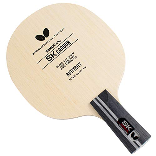 ping pong paddle butterflies 2 Butterfly SK Carbon CS Blade Table Tennis Blade - TAMCA 5000 Carbon Fiber Blade - SK Carbon CS Blade - Professional Table Tennis Blade - only Comes in CS Handle Type - Made in Japan
