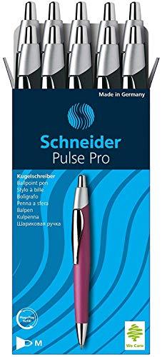 Schneider Slider Pulse Pro Ballpoint Pen, Black Barrel, Black Ink, Box of 10 (132201 )