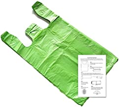 Lime Green 11.5x6x21 T-shirt Bags (100 Pack) with Crafting Insert - Reusable Retail Shopping Bags