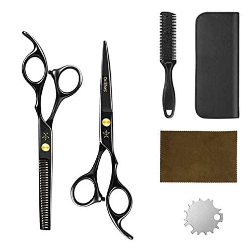 Un conjunto de corte de pelo profesional herramientas de corte tijeras de peluquería tijeras adelgazamiento del cabello Tijeras del pelo tijeras de pelo