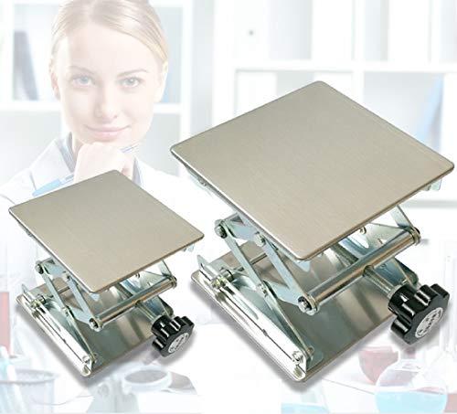 "Stainless Steel Lab Jack Scissor Stand Platform (8"" x 8"")"