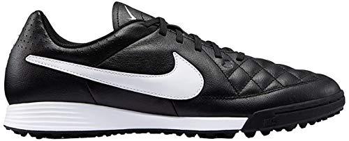 Nike Herren Tiempo Genio Leather TF Fußballschuhe, Schwarz/Weiß (Black/White), 38,5 EU
