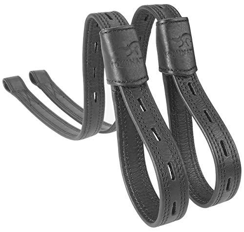 Equinate Slimline Mono Steigbügelriemen Schwarz 60 cm
