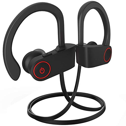 Bluetooth Headphones, Bluetooth Earbuds Best Wireless Sports Earphones w/Mic, Stereo Sweatproof Earbuds for Gym Running Workout 10 Hour Battery Noise Cancelling Headsets A1