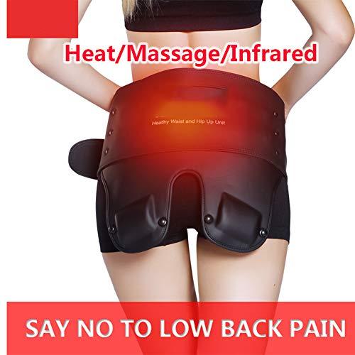 JMung Vibrante eléctrico Masaje Cintura Lumbago cinturón calienta glúteos para Calentar Abdomen masajeador Fisioterapia infrarroja