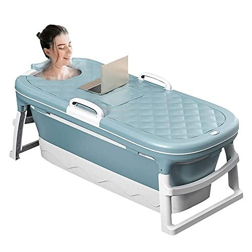 SSS Bañera de Masaje portátil Plegable, bañera doméstica para niños, baño de Ducha bañera remojada, con Cubierta termostática 45.27 Pulgadas