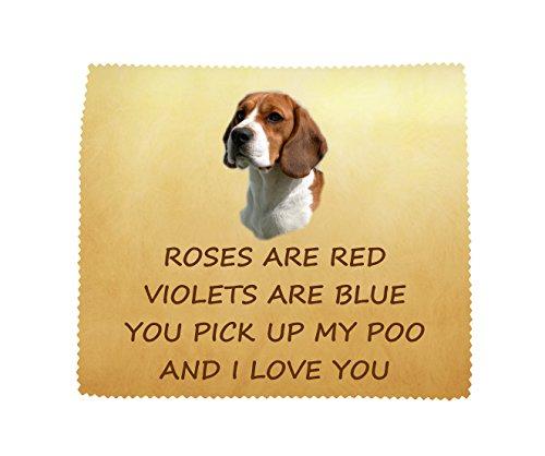 Starprint sublimatie Beagle 'I Love You' microvezel doek leuk nieuwigheid geschenk van de hond
