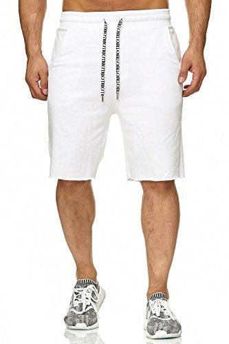 Redbridge Herren Shorts Kurze Hose Sweatpants Jogger Jogginghose Sporthose Weiß M
