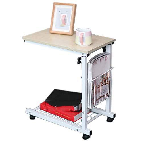 Nachtkastje, afneembaar, optrekzijde, meerdere banken, eenvoudige learning care met opbergmand, 48 cm x 30 cm x 56 cm White maple wood