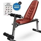 Sportstech Banc de Musculation Pliable Multifonction Sit-up Fitness BRT100/500 inclinable muscu Entrainement, réglable, poignées...
