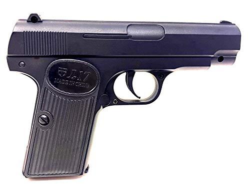 Seilershop Softair Gun Airsoft Vollmetall PV8 Federdruck Kids Toy Pistole 16,5cm 0,5 Joule