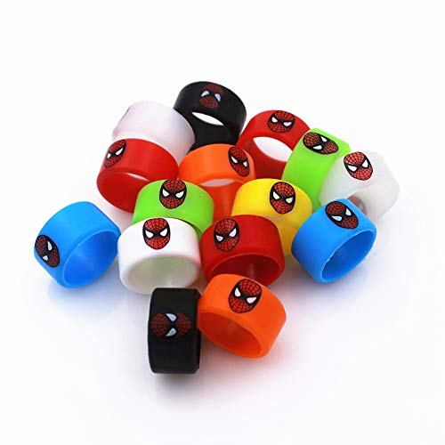 Glotech 100pcs Vape Bands Red Face Anti Skid Silicone Rubber Bands for 18650 Mechanical Mods RDA RBA Tank