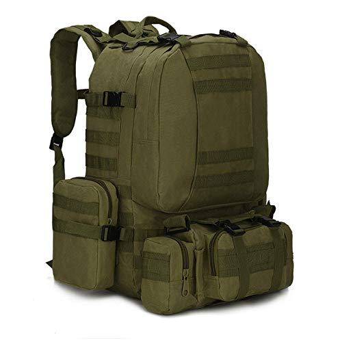 Hjkl 50L Sacs à Dos Tactiques Hommes Sac à Dos Militaire randonnée Trekking Sac à Dos Voyage Sport Sac Sac d'escalade en Plein air-Vert armée 50L