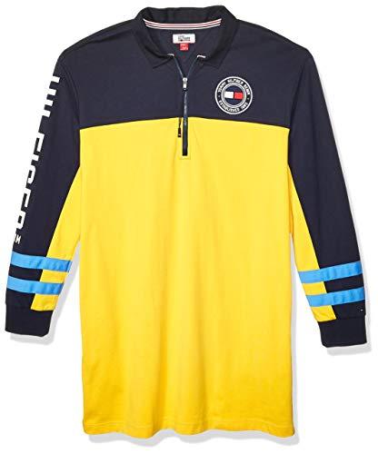 Tommy Hilfiger Damen Rugby Dress with Extended Zipper Pull Freizeitkleidung, Solarbetrieb, Marineblau, Klein