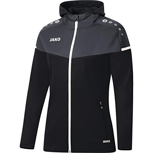 JAKO Champ 2.0 Veste à capuche pour femme M noir/anthracite