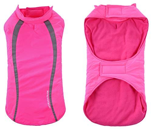 Geyecete Cozy - Chaleco impermeable a prueba de viento para perro, abrigo de invierno, ropa para perros pequeños, medianos y grandes, color rosa