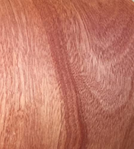 Aibote Hojas de Restauración de Chapa de Madera de Caoba Natural(Tamaño Total:20x250CM) para Estantes de Mesa de Vitrina de Altavoces Muebles de Cocina