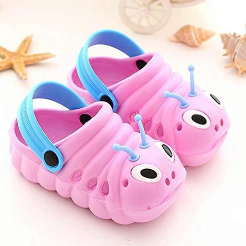 Babysandalen Kleinkinder Kinder rutschfeste stabile Duschpantoffeln Schuhe mit verstellbaren Fersenriemen für das Tragen im Innen- und Außenbereich