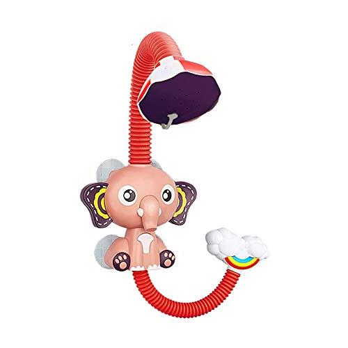 KLJHMAP Baby Shower Toy Handbuch Elefant Glückliche Bathtime Kinder-Badewasser-Spray-Mädchen-Jungen Badezimmer Spielzeug,Rot