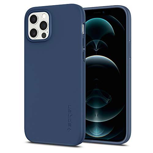 Spigen Cover Thin Fit Compatibile con iPhone 12 e Compatibile con iPhone 12 PRO - Deep Blue