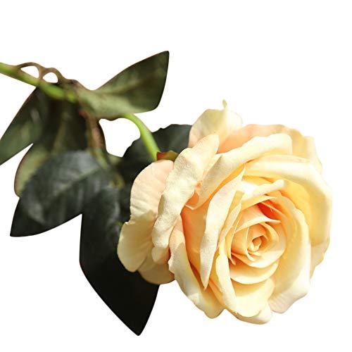 Xshuai® Bouquet de fleurs artificielles en flanelle pour mariage, anniversaire, Saint-Valentin, décoration de jardin Total length:Appr.51cm Orange