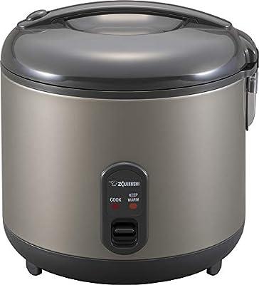 Zojirushi Arrocera y calentador, 1.8 litros, gris metálico