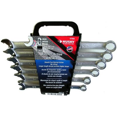 Husky Wrench 6 pc Ratchet- Action Made in the USA 5/16 - 5/8 #47056      Enlarge  Sell one like this 	 Husky Wrench 6 pc Ratchet- Action Made in the USA 5/16 - 5/8 #47056