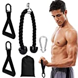 Workout Resistance Bands with Handles, Exercise Band with Tricep RopeUpgraded Durable Material Gym Fitness Cable Handles